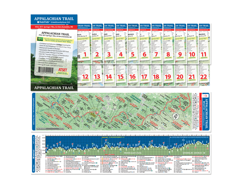 Appalachian Trail Pocket Profile Map Sets – The A.T. Guide