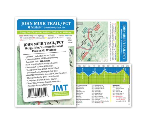 John Muir Trail Pocket Profile Map