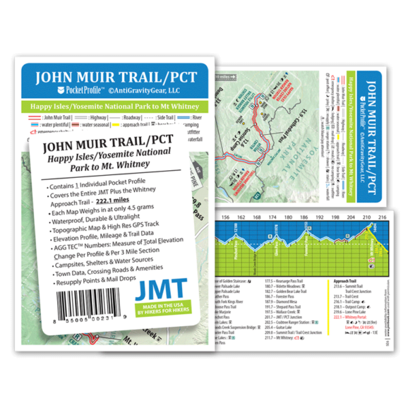 John Muir Trail Pocket Profile Map