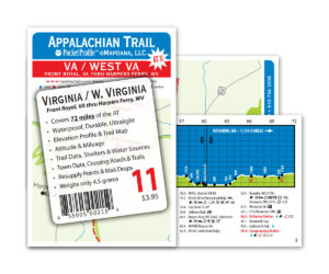 Pocket Profile Appalachian Trail Map - AT-11
