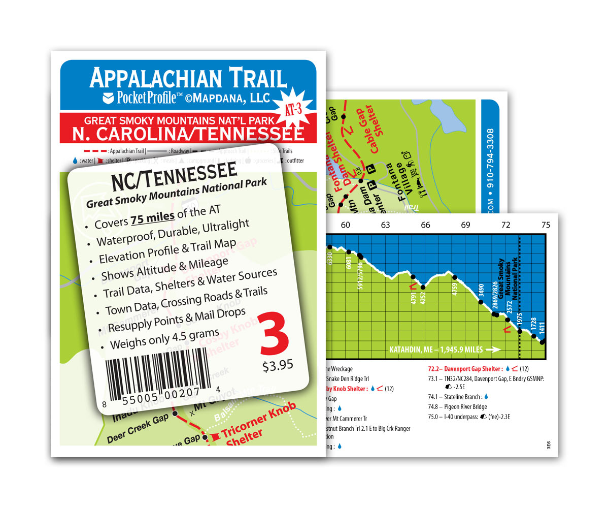 Pocket Profile Appalachian Trail Map - AT-3