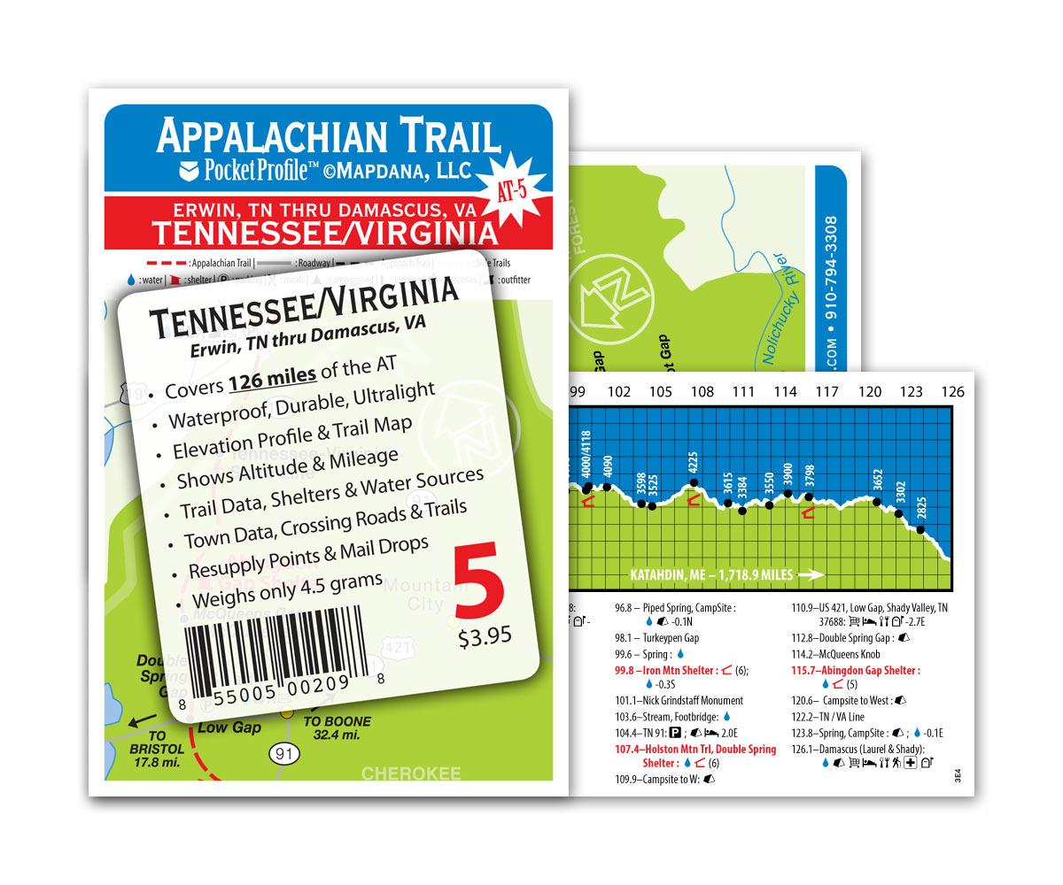 Pocket Profile Appalachian Trail Map - AT-5