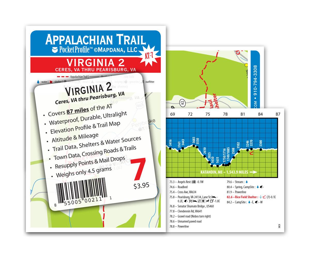 Pocket Profile Appalachian Trail Map - AT-7