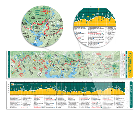 Foothills Trail Pocket Profile Map – The A.T. Guide